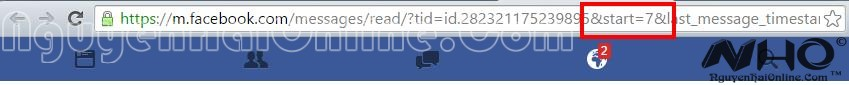 Xem lai tin nhan dau tien tren Facebook 3