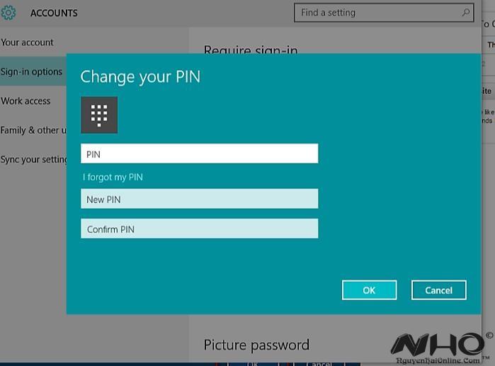 Them ma PIN vao tai khoan tren Windows 10 4