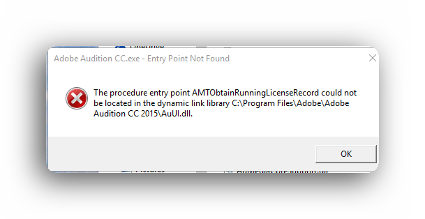 Adobe Audition Fix Error AuUI