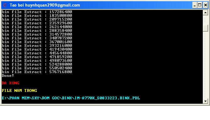 Công cụ giúp chuyển file BINX thành PDL để Flash qua PDL OS