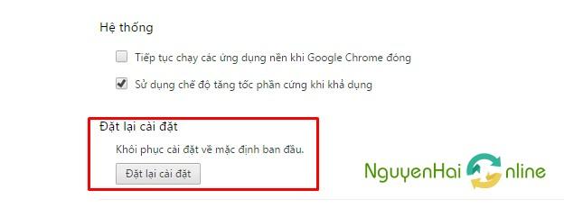 Dat lai cai dat Chrome