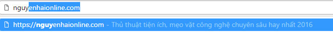 URL de xuat chrome