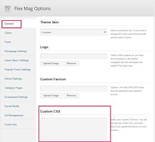 flex mag theme custom css