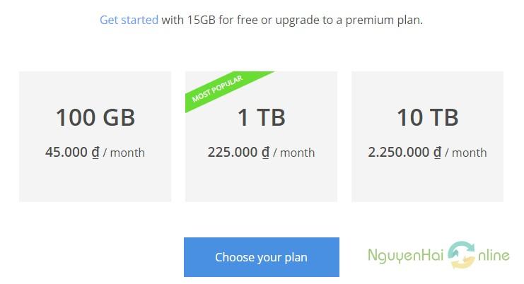price google drive